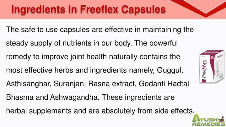 Ingredients In Freeflex Capsules