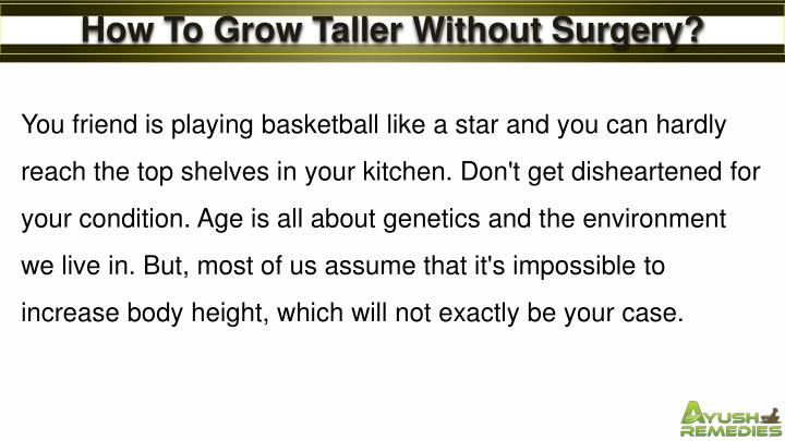 How To Grow Taller Without