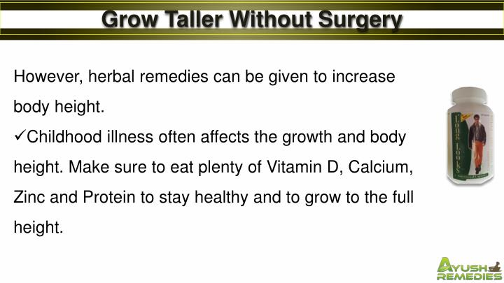 Grow Taller Without Surgery