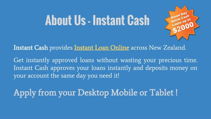 About Us - Instant Cash