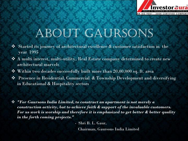 About Gaursons
