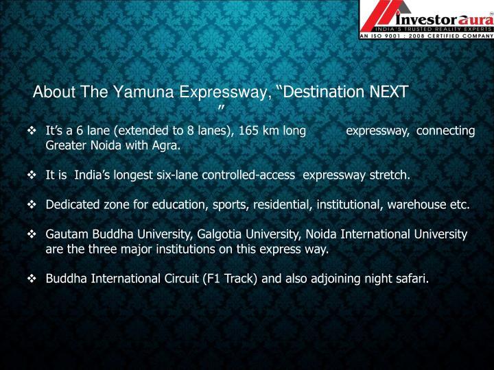 About The Yamuna Expressway,