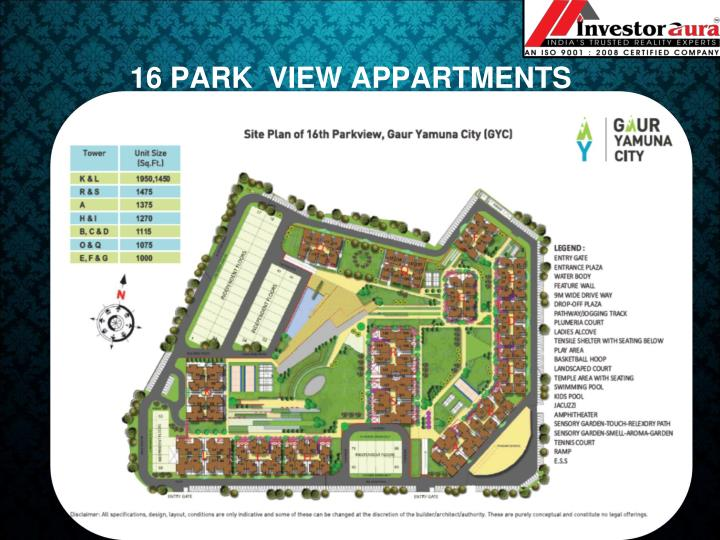 16 PARK  VIEW APPARTMENTS