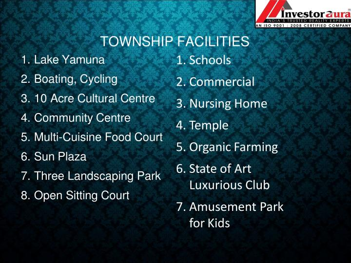 TOWNSHIP FACILITIES