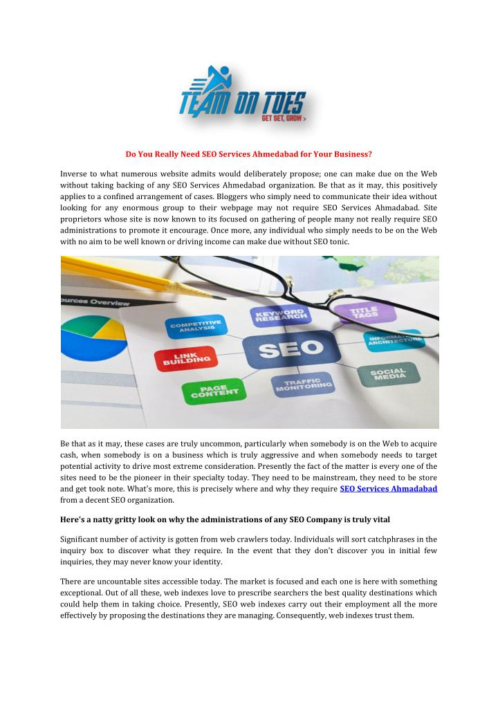 Do You Really Need SEO Services Ahmedabad for Your Business?