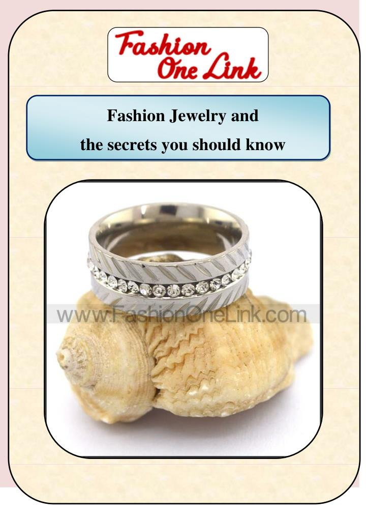 Fashion Jewelry and