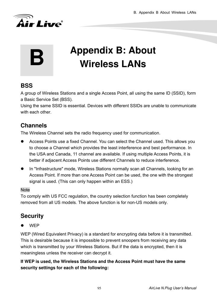 B. Appendix B About Wireless LANs