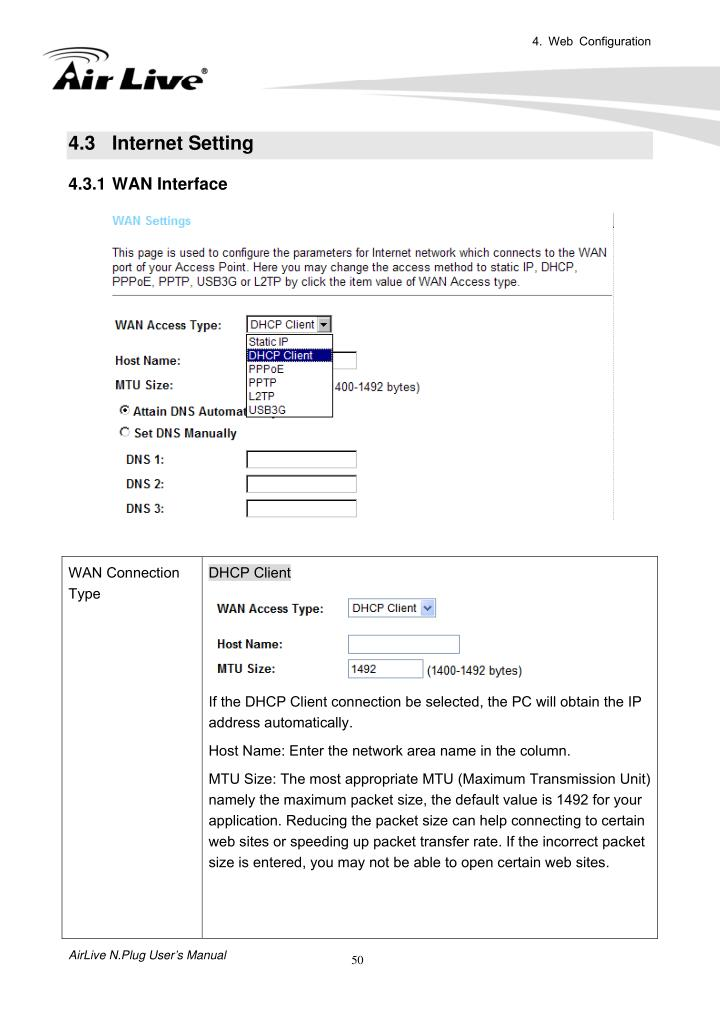 4. Web Configuration