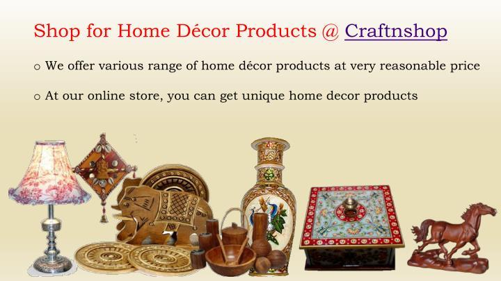 Shop for Home Décor Products @ Craftnshop