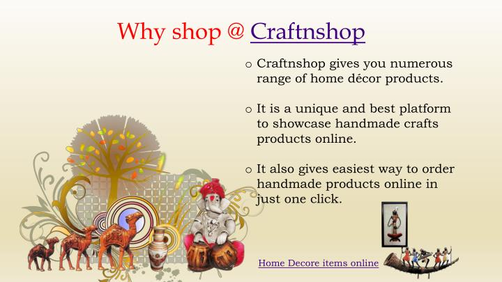 Why shop @ Craftnshop