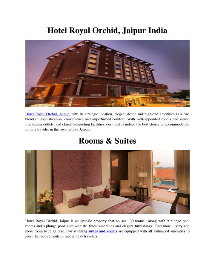Hotel Royal Orchid, Jaipur India