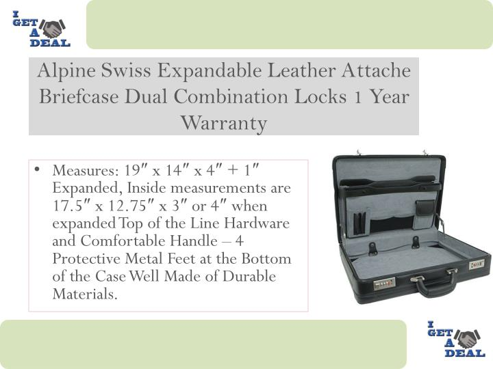 Alpine Swiss Expandable Leather