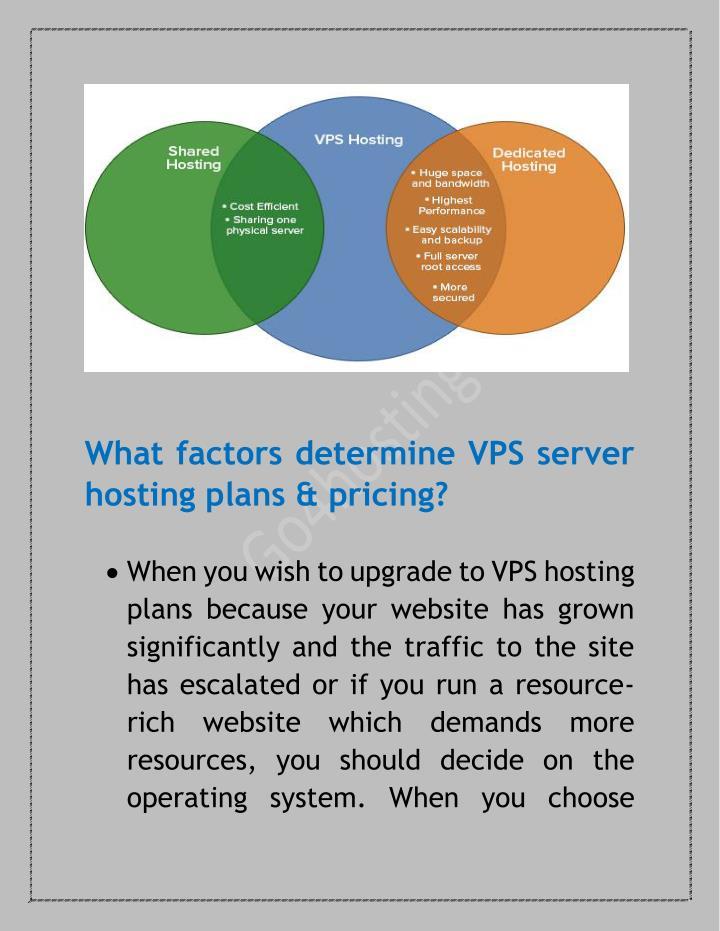 What factors determine VPS server