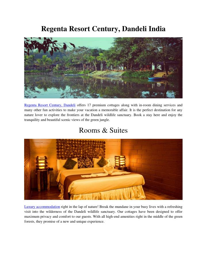 Regenta Resort Century, Dandeli India