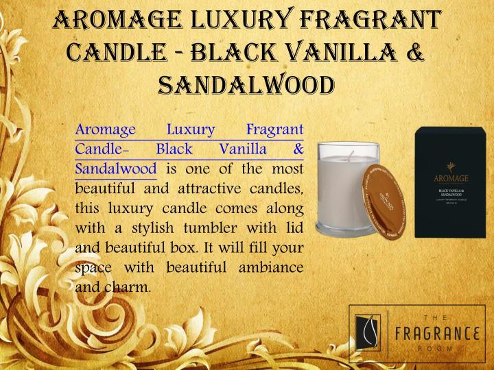 AROMAGE LUXURY FRAGRANT CANDLE - BLACK VANILLA & SANDALWOOD