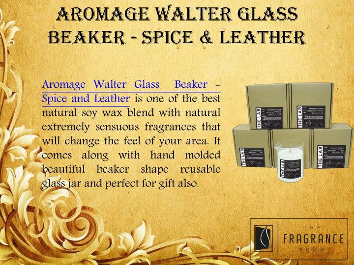 AROMAGE WALTER GLASS BEAKER - SPICE & LEATHER