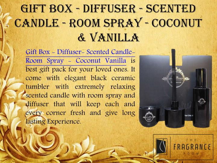 GIFT BOX - DIFFUSER - SCENTED CANDLE - ROOM SPRAY - COCONUT & VANILLA