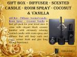 gift box diffuser scented candle room spray coconut vanilla