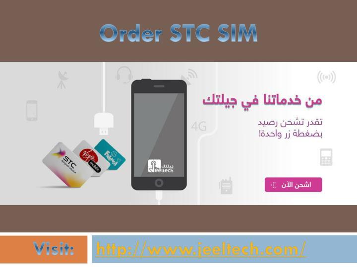 Order STC SIM
