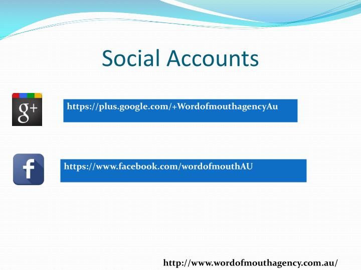 Social Accounts