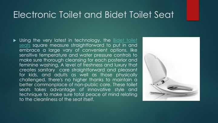Electronic Toilet and Bidet Toilet Seat