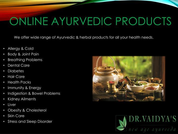 Online Ayurvedic