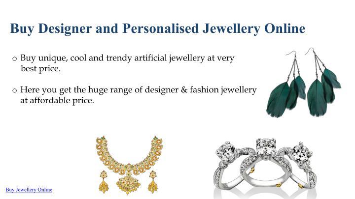 Buy Designer and Personalised Jewellery Online