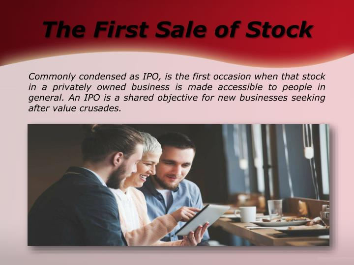 The First Sale of Stock