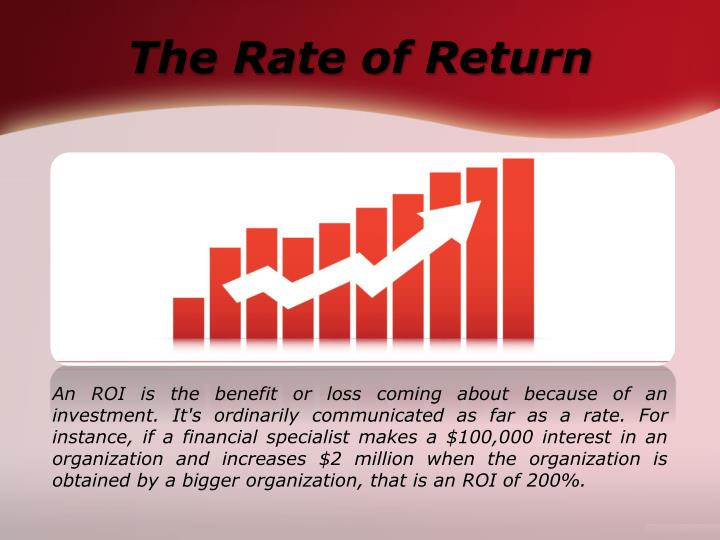 The Rate of Return