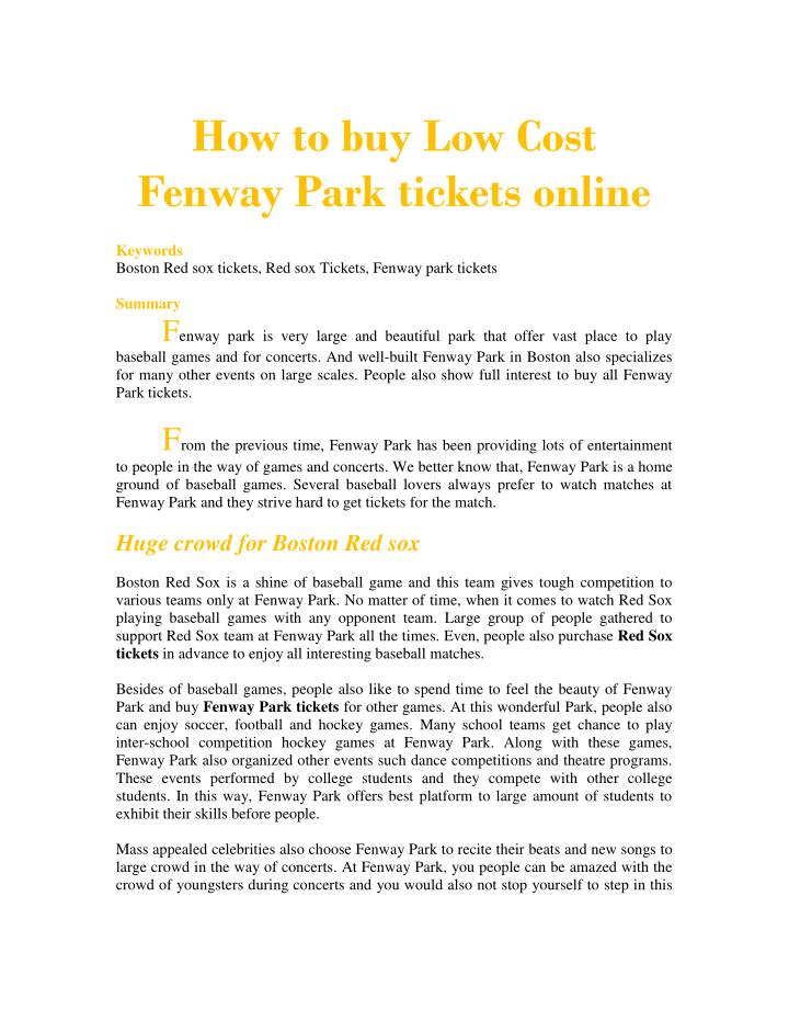 How to buy Low Cost