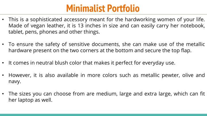 Minimalist Portfolio
