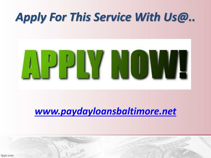 Apply For This Service With Us@..