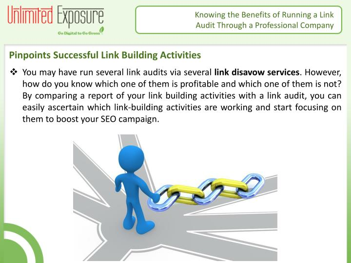 Pinpoints Successful Link Building Activities