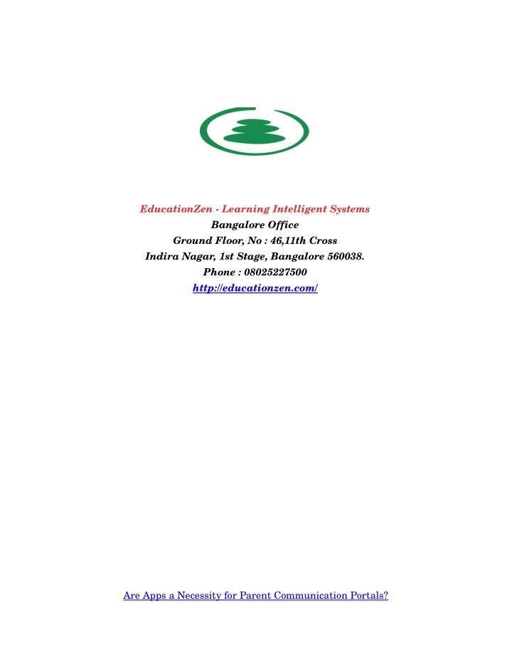 EducationZenLearningIntelligentSystems