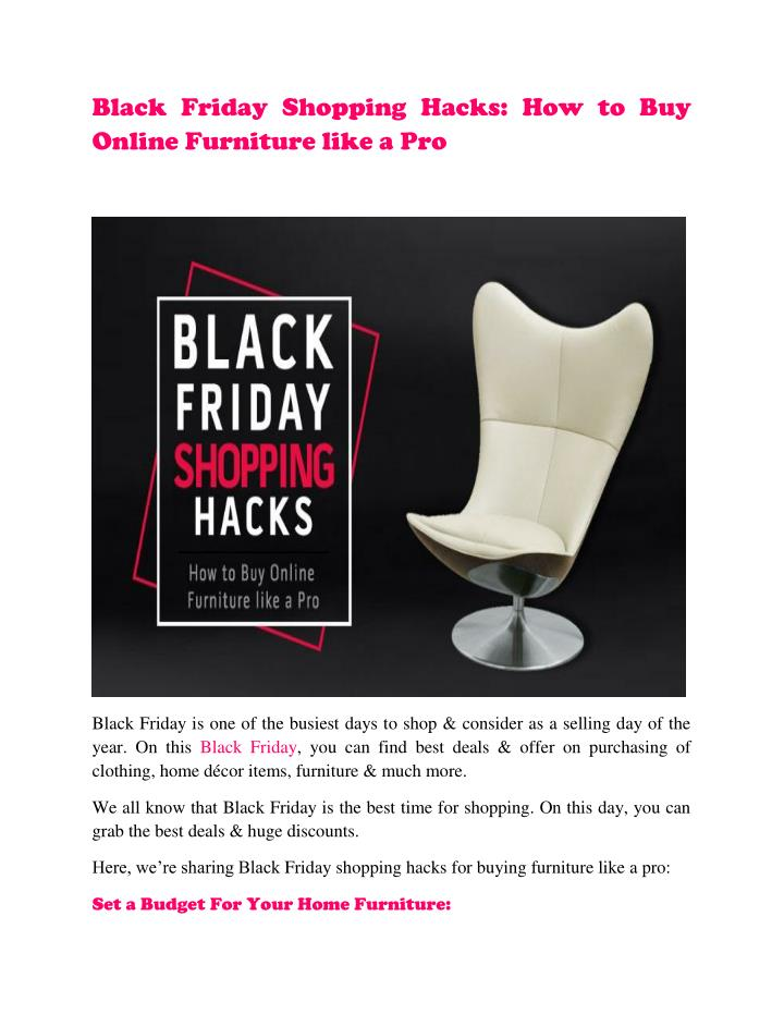 Black Friday Shopping Hacks: How to Buy