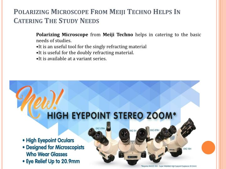 Polarizing Microscope From Meiji Techno Helps In Catering The Study Needs