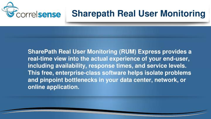 Sharepath Real User Monitoring