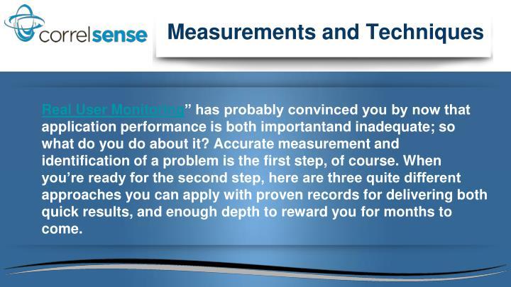 Measurements and Techniques