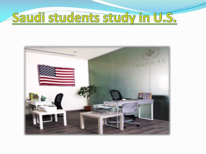 Saudi students study in U.S.