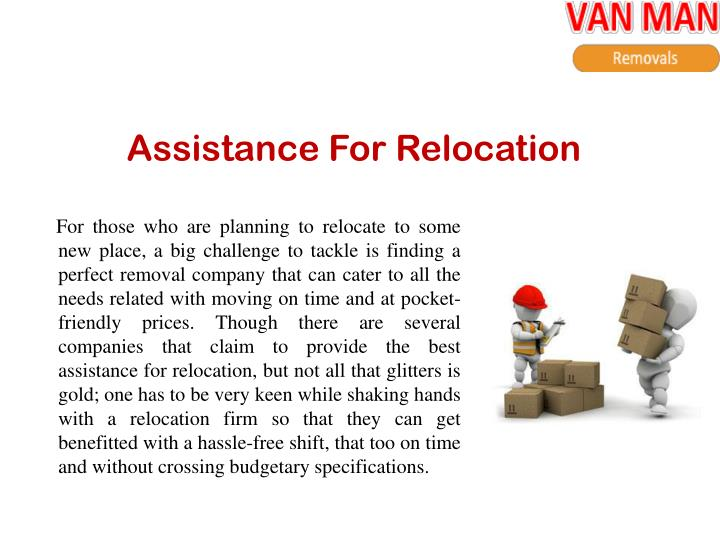 Assistance For Relocation