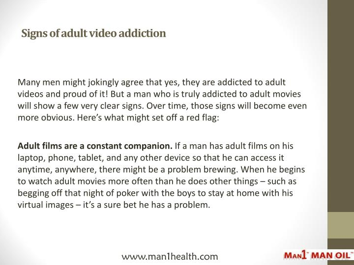 Signs of adult video addiction