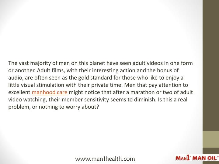 The vast majority of men on this planet have seen adult videos in one form or another. Adult films, ...