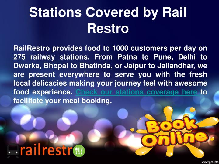 Stations Covered by Rail Restro