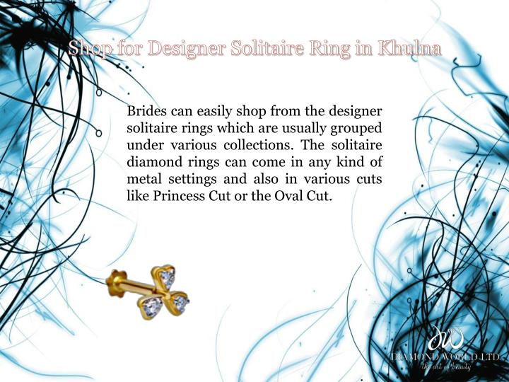 Shop for Designer Solitaire Ring in Khulna