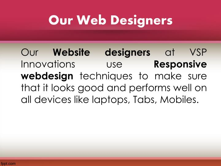 Our Web Designers