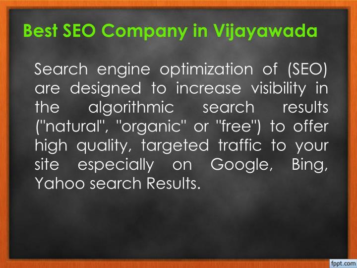 Best SEO Company in Vijayawada