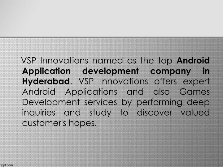 VSP Innovations named as the top