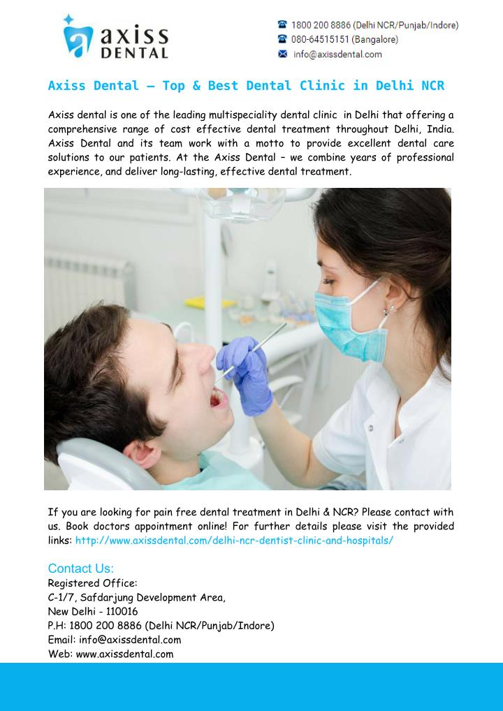 Axiss Dental – Top & Best Dental Clinic in Delhi NCR