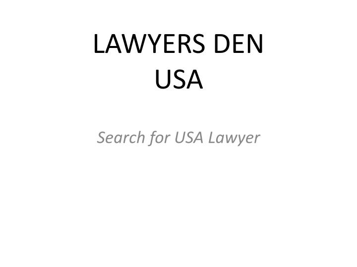 Lawyers den usa