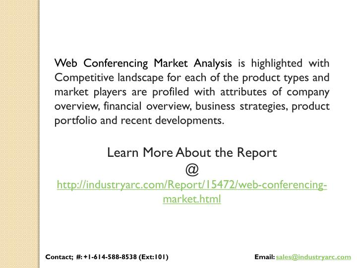 Web Conferencing Market Analysis